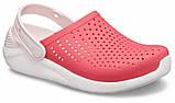 Детские кроксы Crocs Literide Kids красные С12/ 18,3 – 18,7 см, фото 5