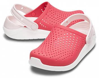 Детские кроксы Crocs Literide Kids красные J3/ 22,0 – 22,5 см