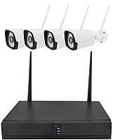 Комплект видеонаблюдения беспроводной DVR MELAD HD 5G KIT WiFi 4ch набор на 4 камеры (11532), фото 1