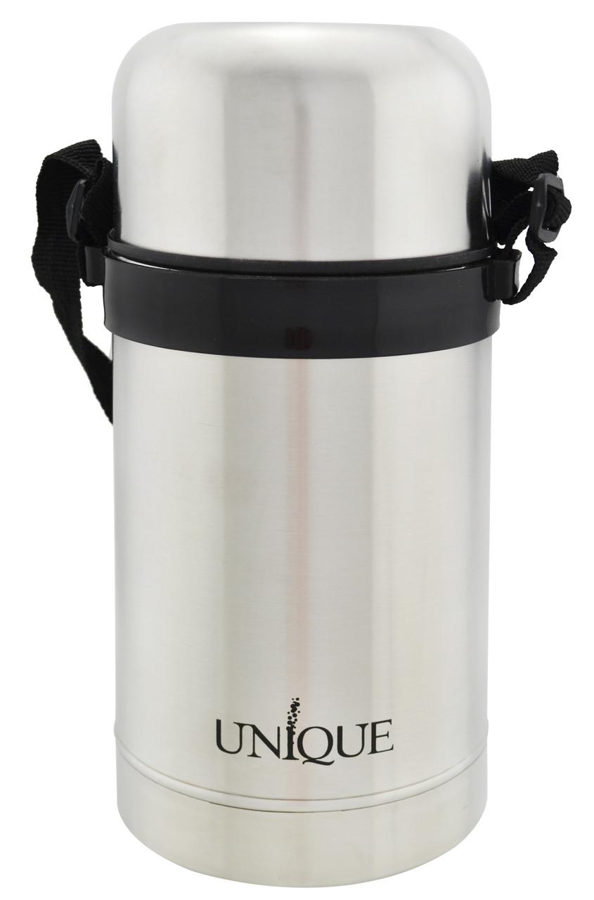 Термос пищевой UNIQUE UN-1032 0.8л Black (10831)