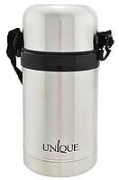 Термос пищевой UNIQUE UN-1032 0.8л Black (10831), фото 1