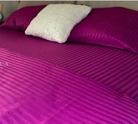 Комплект постельного белья СТРАЙП-САТИН малиновый, фото 1