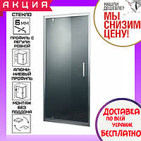 Душевая дверь в нишу 90 см Primera Frame SDС1190 профиль хром, прозрачное стекло