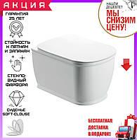 Унитаз подвесной безободковый Clean Pro Devit Afina 3020150 с сиденьем soft-close