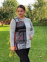 Женская стильная кофта больших размеров, фото 1