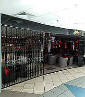 Защитные раздвижные решетки на двери Шир.5320*Выс2800мм для кафе и ресторанов