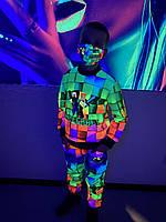 Дитячий світиться костюм унісекс Minecraft +маска в подарунок, фото 1