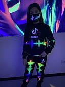 Дитячий світиться костюм унісекс Tik Tok +маска в подарунок