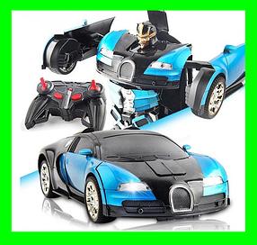 Машинка Трансформер на пульту, Bugatti Car Robot