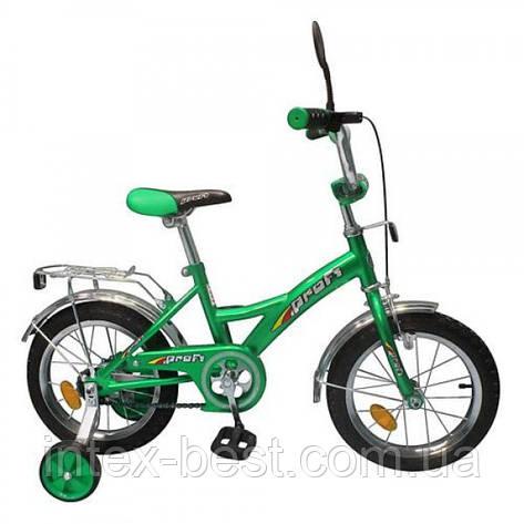 Детский двухколесный велосипед Profi Trike (арт P 1632) зеленый 16 дюймов, фото 2