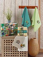 Красивые яркие Кухонные полотенца Вафельные хлопок 40х60 (7шт) ( TM Nilteks) Турция