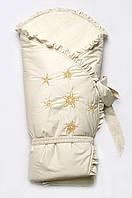 Конверт-одеяло зимний, зимний нарядный конверт одеяло на меху
