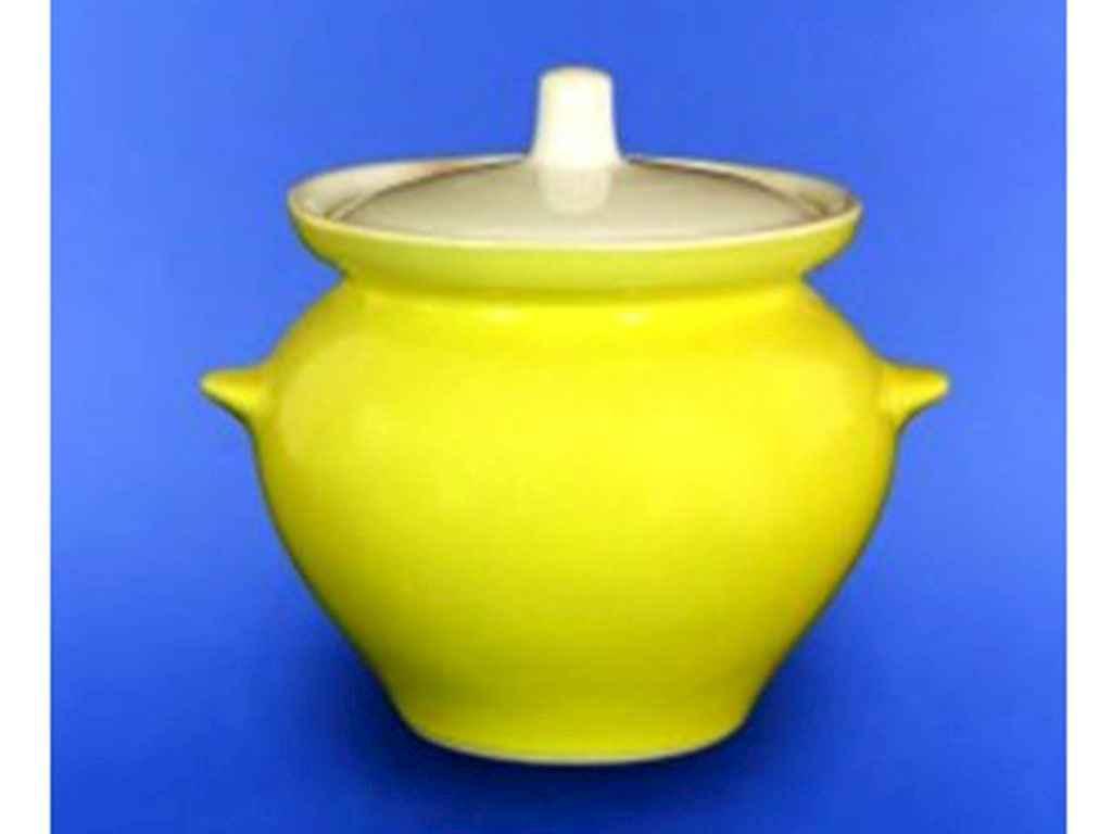 Горщик для жаркого 0,450 л лимонний ТМ АВАНГАРД
