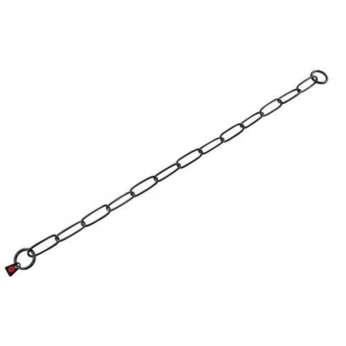 Sprenger Long Link широкое звено цепочка-ошейник, черная сталь, 3 мм, 50 см
