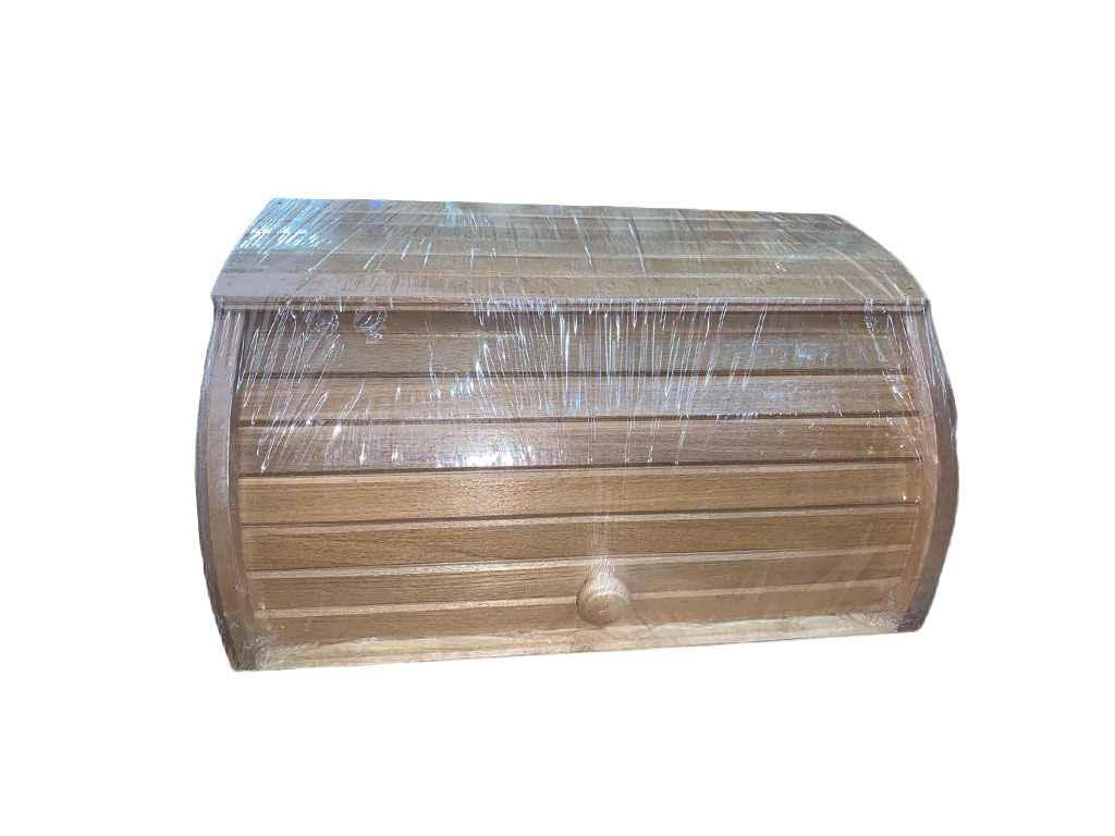 Хлібниця деревяна на рейках букова (темна) пропитана Горіх ТМ ЧЕРНІВЦІ
