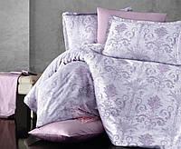 Классное постельное белье из сатина Двуспальное Евро 200х220 ( TM Aran Clasy) COSA V1 жакард, Турция