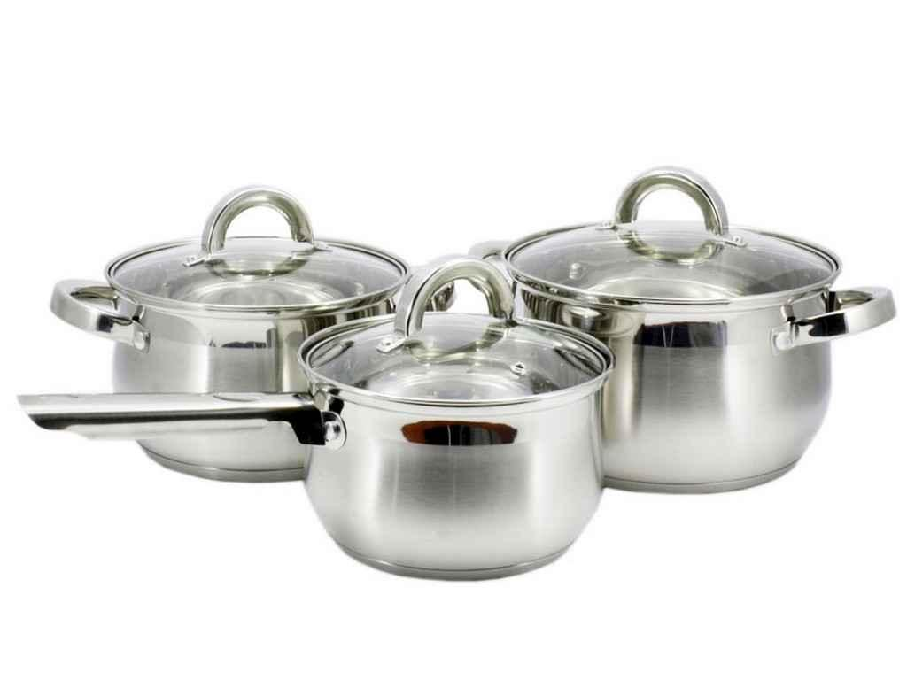 Набор посуды из нержавеющей стали Zauberg 3 предмета 2л/3л/4л (ZB-2SS34S)