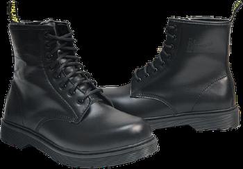 Мужские зимние ботинки Dr. Martens 1460 Black (Premium-Lux)с мехом