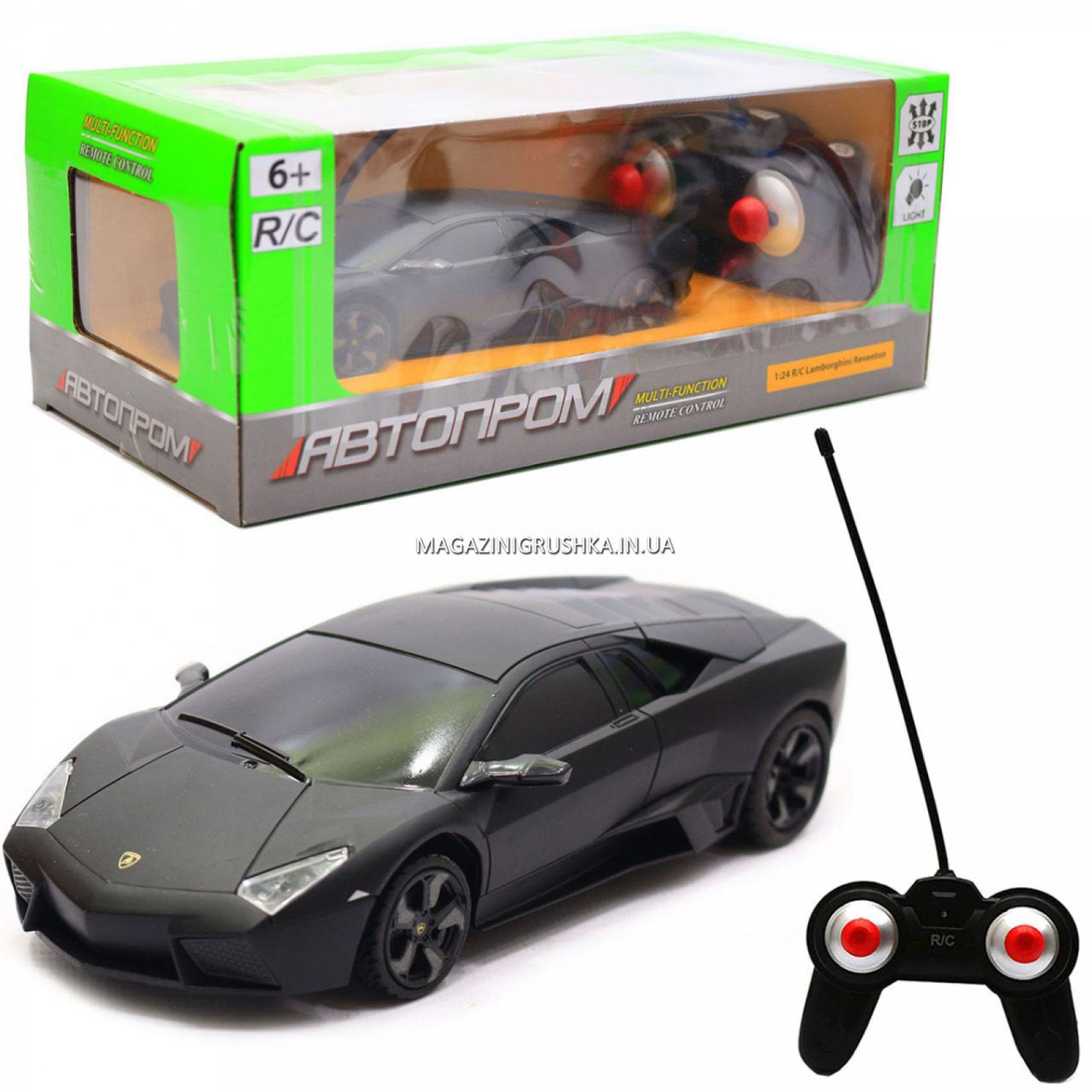 Машинка ігрова автопром на радіокеруванні Lamborghini Reventon (Ламборджині ревентон) чорний (8825)