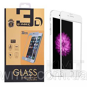 Защитное Стекло iMax Metal & Glass 3D Full Cover — iPhone 6 Plus — White