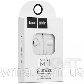 Hoco M1 Original Series , Apple Hands Free With Mic White
