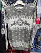 Вязаный свитер детский с оленями на мальчиков изумрудный, фото 5