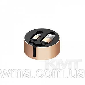 Кабель для зарядки (usb) Кабель 2 in 1 (Micro, Type-C) Hoco U23 Two in one Resilient collectable—Gold