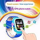 Дитячі розумні смарт годинник з GPS Smart Baby Watch Q90 PLUS Блакитні, фото 2
