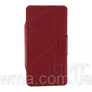 Leather Book Case — Samsung J1 mini(J105) — iMax b — Red