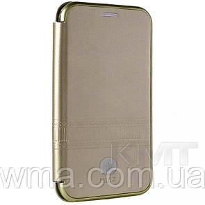 Leather Book Case — Meizu M6 iMax L — Gold