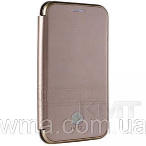 Leather Book Case — Meizu M6 iMax L — Rose Gold