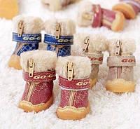 Ботинки для собак GO-GO (Зима). Обувь для собак.