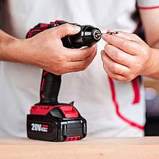 Аккумуляторный шуруповерт бесщеточный WORCRAFT CHD-S20LiB + АКБ 20V-4.0A + зарядное устройство, фото 3