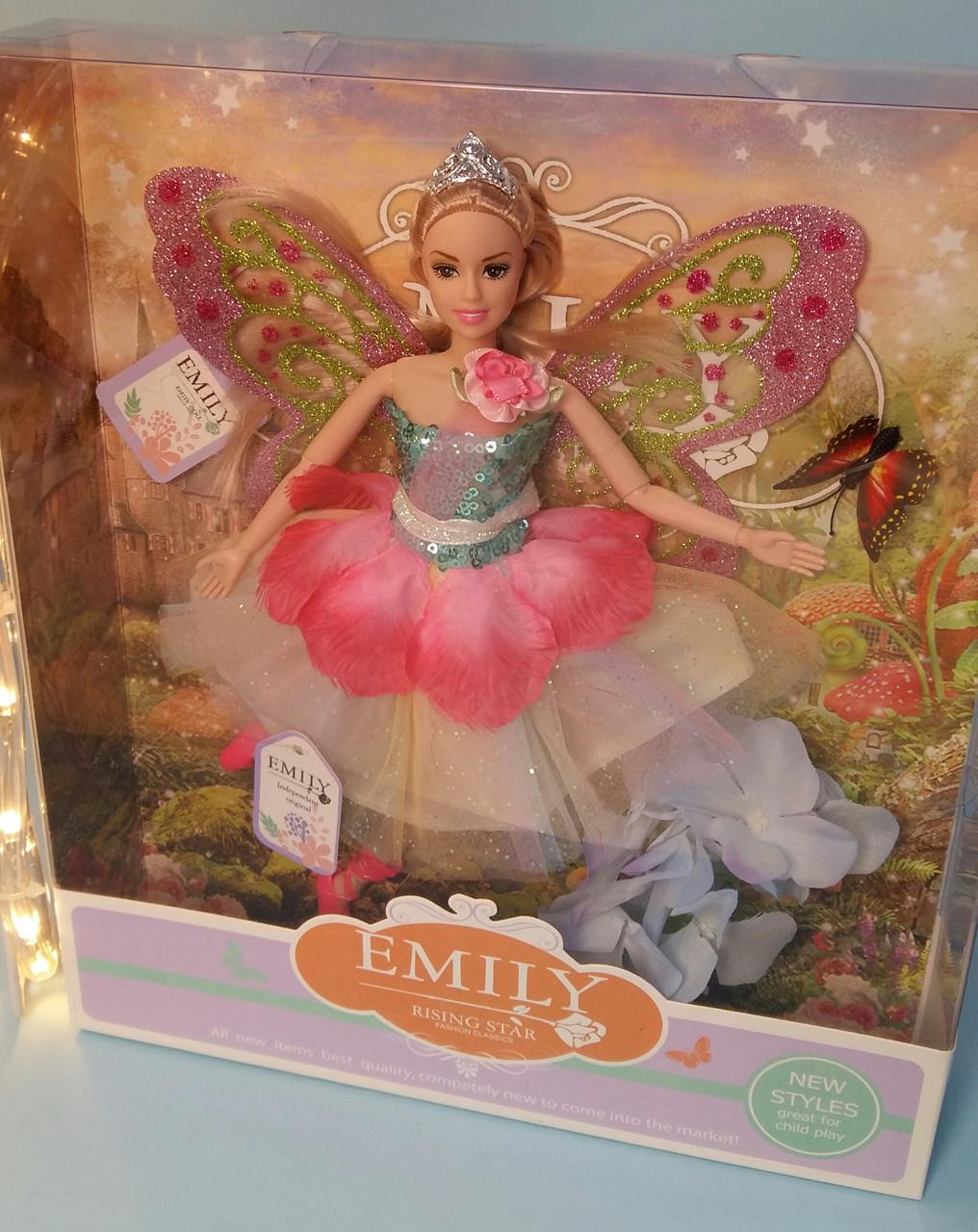 Кукла Emily Фея с аксесуарами 29 см, цветы, бабочки QJ080А