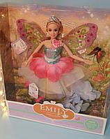 Кукла Emily Фея с аксесуарами 29 см, цветы, бабочки QJ080А, фото 1