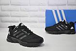 Мужские черные кроссовки сетка в стиле Adidas Springblade, фото 3