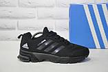 Мужские черные кроссовки сетка в стиле Adidas Springblade, фото 2