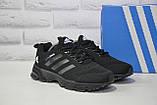 Мужские черные кроссовки сетка в стиле Adidas Springblade, фото 5