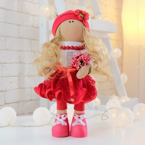 М'яка текстильна іграшка. Українські ляльки ручної роботи. Інтер'єрна лялечка ІВАНКА