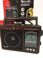 Радіоприймач, програвач портативний акумуляторний з радіо USB+SD+FM+AM Golon RX 9966