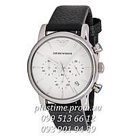 Кварцевые часы с хронографом Emporio Armani ar1737 white silver
