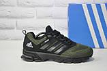 Мужские зеленые кроссовки сетка в стиле Adidas Springblade, фото 3