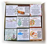 Подарок к Новому году набор разных сортов натурального мыла