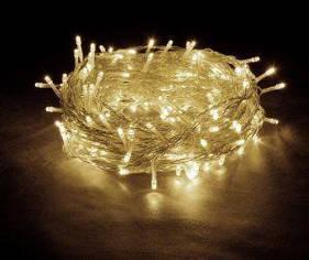 Гирлянда прозрачный  100 Led круглые лампочки
