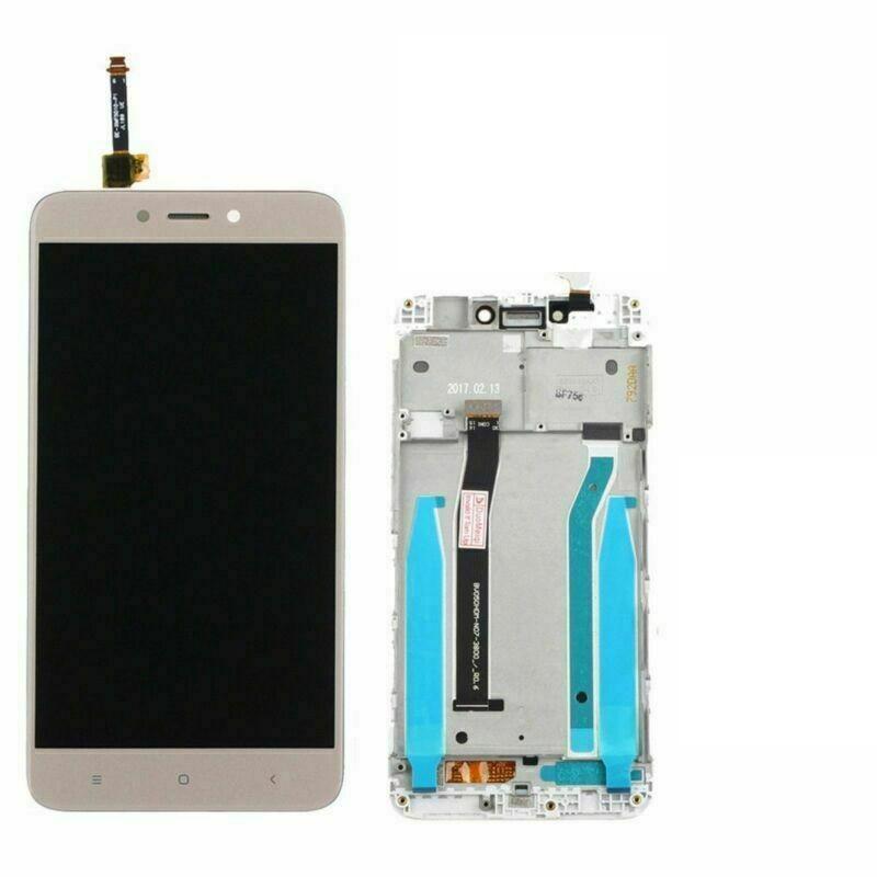 Дисплей (экран) для Xiaomi Redmi 4X с сенсором (тачскрином) и рамкой золотистый