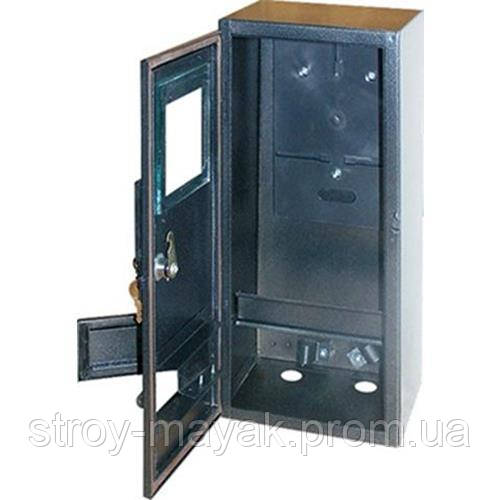 Бокс для однофазного лічильника, 1-3 автомата, герметичний IP 54, зовнішній, чорний