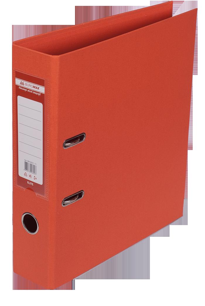 Папка регистратор ELITE двусторонняя A4, 70 мм, апельсин