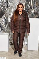 Женский зимний Лыжный Спортивный Костюм батал Синий, Шоколад, Черный, фото 1