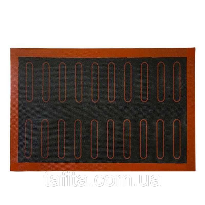 Перфорированный коврик с разметкой для эклеров 30*40
