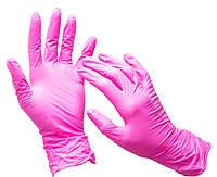 Перчатки нитриловые TULIP Италия 100 шт, размер L розовые